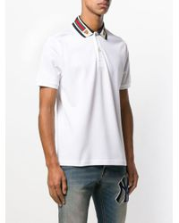 Gucci - White Poloshirt mit Web for Men - Lyst