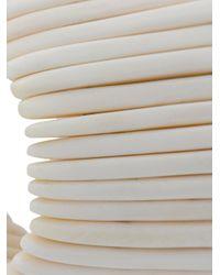 Monies - White Asymmetric Cuff Bracelet - Lyst