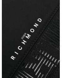 メンズ John Richmond ロゴ クラッチバッグ Black