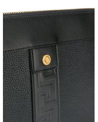 Pochette Greca Versace pour homme en coloris Black