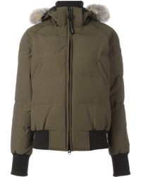 Canada Goose Green Hooded Padded Jacket