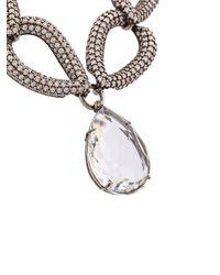 Alexander McQueen Metallic Facted Crystal Necklace