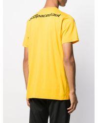 メンズ SSS World Corp ロゴ Tシャツ Yellow