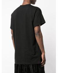 メンズ Yohji Yamamoto ギャップカラーtシャツ Black
