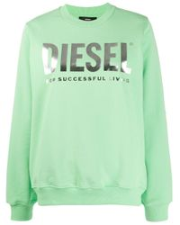 DIESEL F-ang ロゴ スウェットシャツ Green