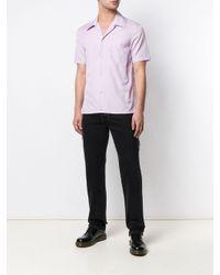 メンズ Helmut Lang ショートスリーブ ボタンダウン シャツ Purple