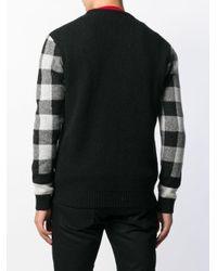 Maglione a quadri di Woolrich in Black da Uomo