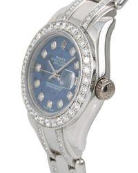 Наручные Часы Masterpiece Pre-owned 29 Мм 2006-го Года Rolex, цвет: Blue