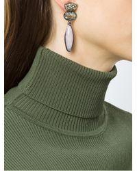 Camila Klein - Metallic Strass Encrusted Earrings - Lyst
