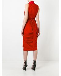 Rick Owens Red Limo Dress