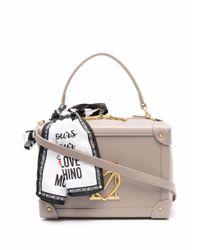 Love Moschino ロゴプレート ハンドバッグ Gray