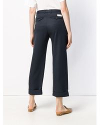 Nine:inthe:morning Blue Cropped Trousers