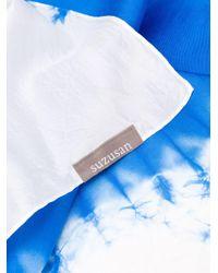 Платок С Принтом Тай-дай Suzusan, цвет: Blue