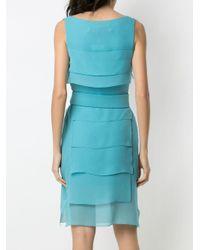 Robe courte à design superposé Gloria Coelho en coloris Blue