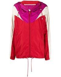 Isabel Marant カラーブロック フーデッドジャケット Red