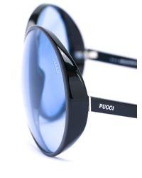 Emilio Pucci Black - Oversized Sunglasses - Women - Acetate - One Size
