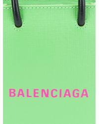 Balenciaga ショッピング フォン ホルダー Green