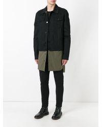 Juun.J | Black Colour Block Overcoat for Men | Lyst