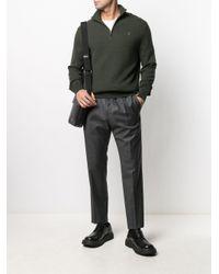 メンズ Polo Ralph Lauren ジップアップ ニットトップ Green
