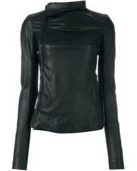 Rick Owens Black Biker Jacket