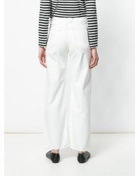 Simon Miller White Wide Leg Jeans