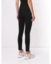 Pantalon droit à taille élastiquée MSGM en coloris Black