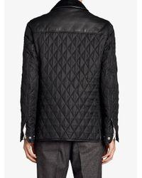 Burberry - Black Yoke Diamond Quilted Jacket for Men - Lyst