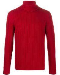 メンズ Lardini タートルネック セーター Red