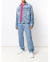 Versace Sweater Met Korte Mouwen in het Pink voor heren