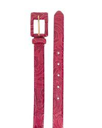 Ремень С Узором Пейсли Etro, цвет: Pink