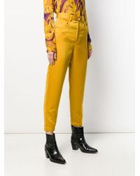 Just Cavalli クロップドパンツ Yellow