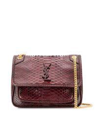 Saint Laurent Brown Niki Shoulder Bag