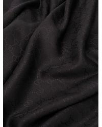Écharpe monogrammée GG Gucci pour homme en coloris Black
