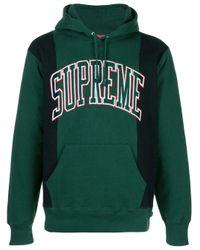 メンズ Supreme Arc ロゴ パーカー Green