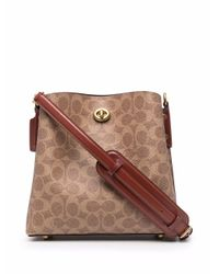 COACH Willow バケットバッグ Brown