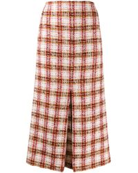 Victoria Beckham ツイード スカート Red
