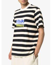 メンズ Sunnei Bliss ストライプ Tシャツ Multicolor