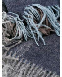 メンズ Paul Smith チェック スカーフ Blue