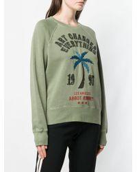 Zadig & Voltaire Green Upper Brode Palm Sweater