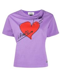 Vivienne Westwood Anglomania ハート Tシャツ Purple