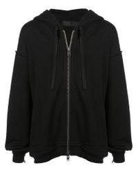 Haider Ackermann Black Zipped Hoodie for men