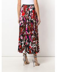 Emilio Pucci プリント プリーツスカート Red