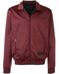 メンズ Prada ストライプ ジャケット Red