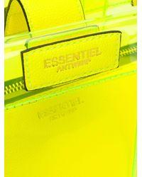 Essentiel Antwerp Smooch クリア トートバッグ Yellow