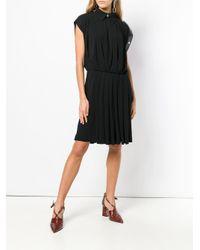Givenchy Black Leather Trim Dress