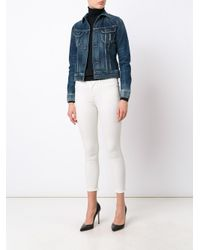 Citizens of Humanity White Skinny Cropped Jeans
