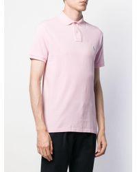 メンズ Polo Ralph Lauren ロゴ ポロシャツ Pink