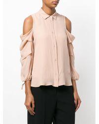 L'Autre Chose - Multicolor Exposed Shoulder Blouse - Lyst