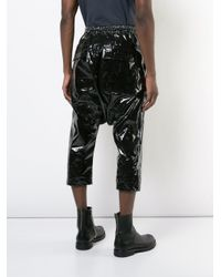 Rick Owens Drkshdw - Black Drop Crotch Cropped Trousers for Men - Lyst