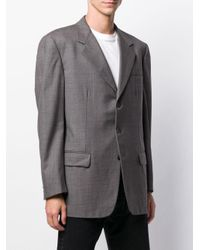 Burberry Pre-Owned Gray 1990's Boxy Fit Blazer for men